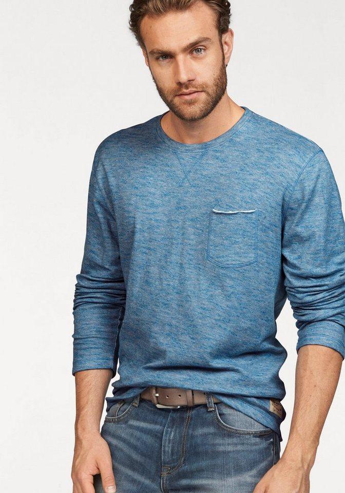 Tom Tailor Sweatshirt in blau-meliert