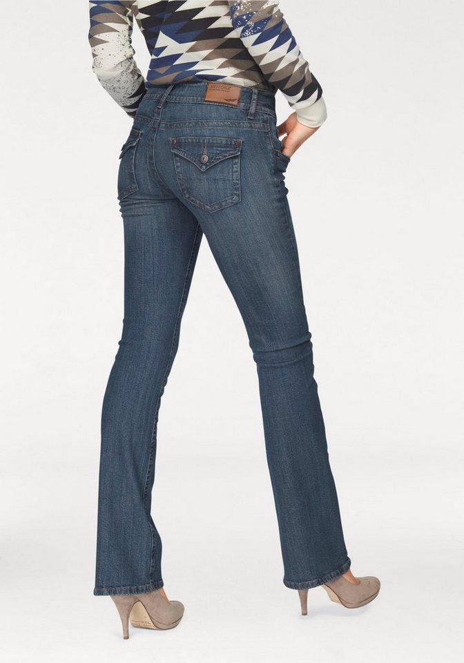Arizona Bootcut-Jeans »Traum-Po-Schummler« in blue-used