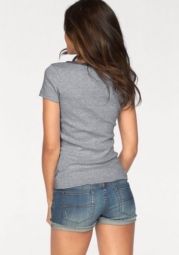 AJC T-Shirt, mit Knopfleiste aus leichtem Denim