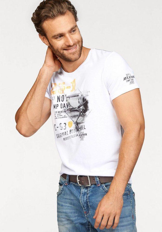 CAMP DAVID T-Shirt in weiß