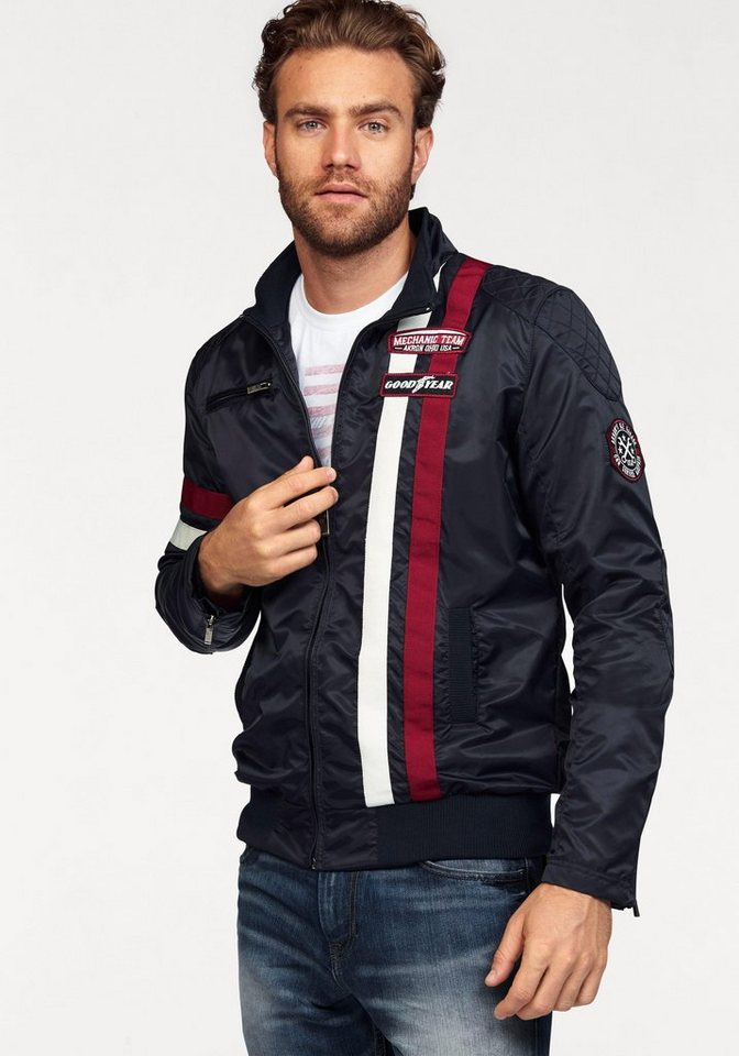 Goodyear Bikerjacke in navy