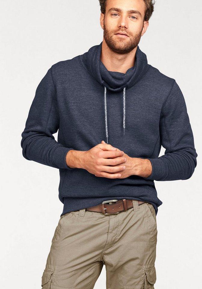 Tom Tailor Sweatshirt Hoher Kragen in navy-meliert