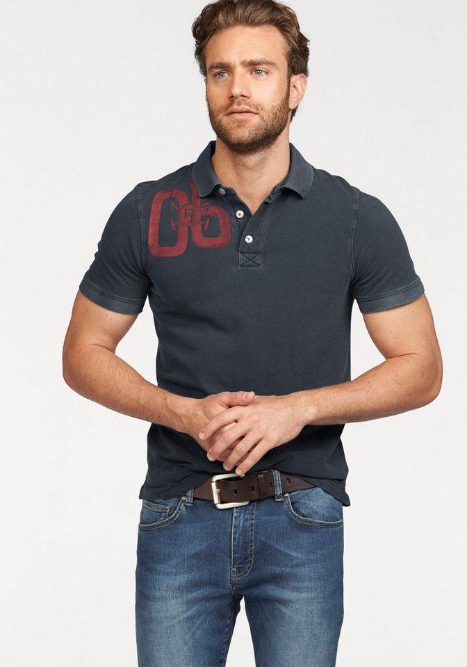 Tom Tailor Polo Team Poloshirt in Piqué-Qualität in grau-blau