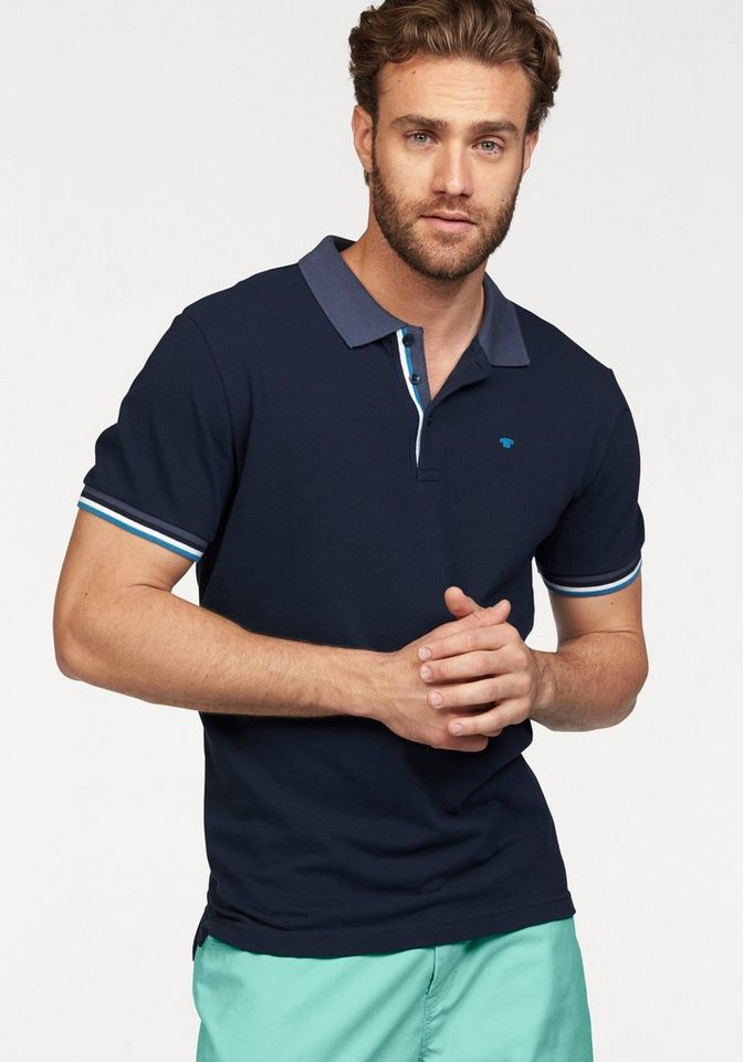 Tom Tailor Poloshirt in Piqué-Qualität in navy