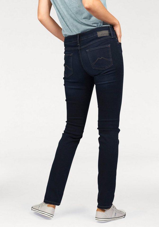 Mustang Stretch-Jeans »Jasmin« Eng geschnitten in dark-blue
