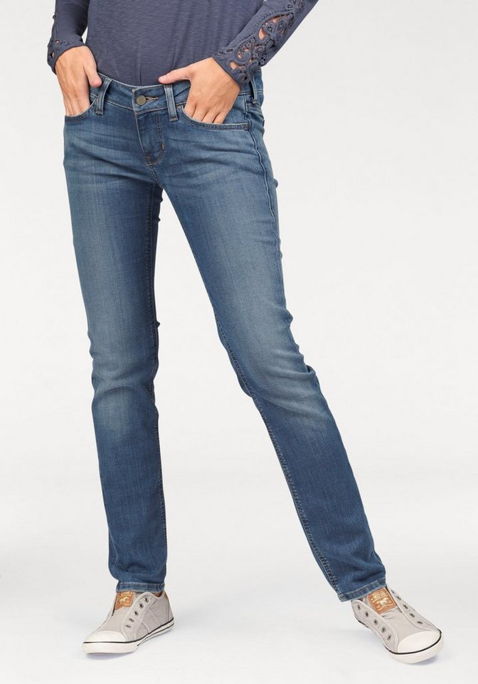 Mustang 5-Pocket-Jeans »Gina Skinny« in mid-blue-used