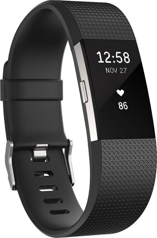 fitbit Activity Tracker »Charge 2 Small« in Schwarz-Silber