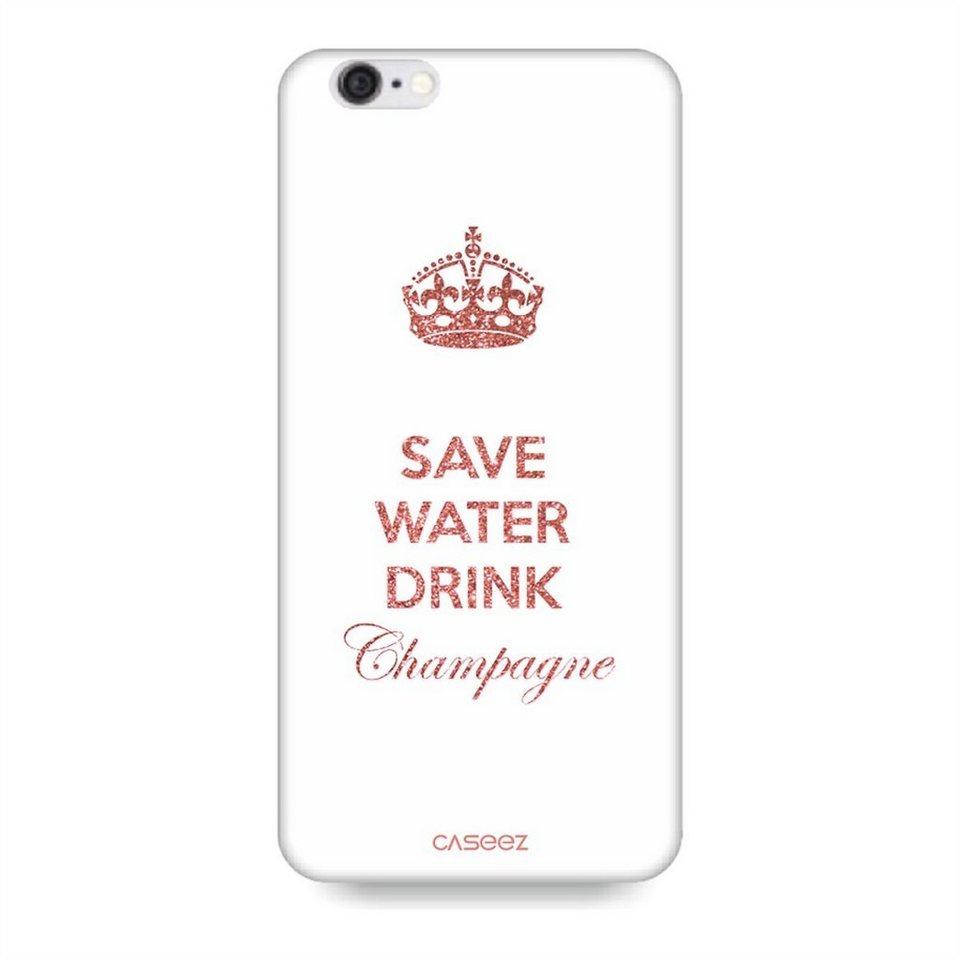 """Caseez Handyhülle »Back Case """"Never Walk Alone"""" für iPhone 6/ 6S« in Weiß-Rosa"""