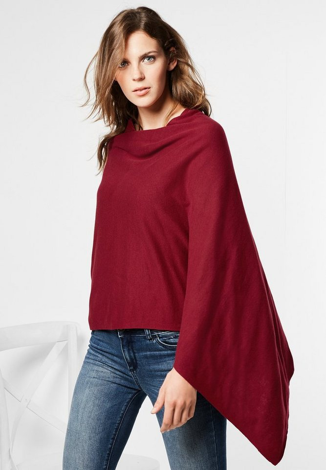 Street One Poncho aus Jersey Felin in vintage red