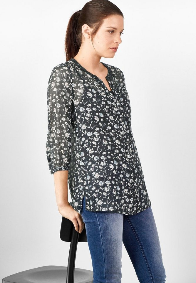 Street One Chiffonbluse Ina in black
