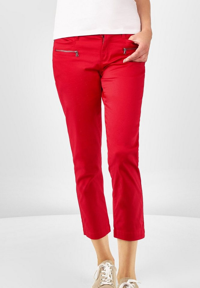 Street One Slim Fit Hose Yulius in pure red