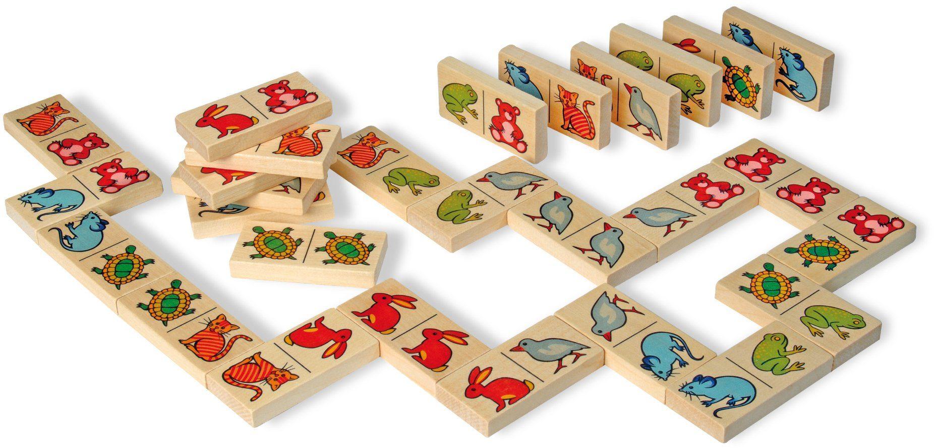 Heros Holzlegespiel mit Tiermotiven, »Domino, 28tlg.«
