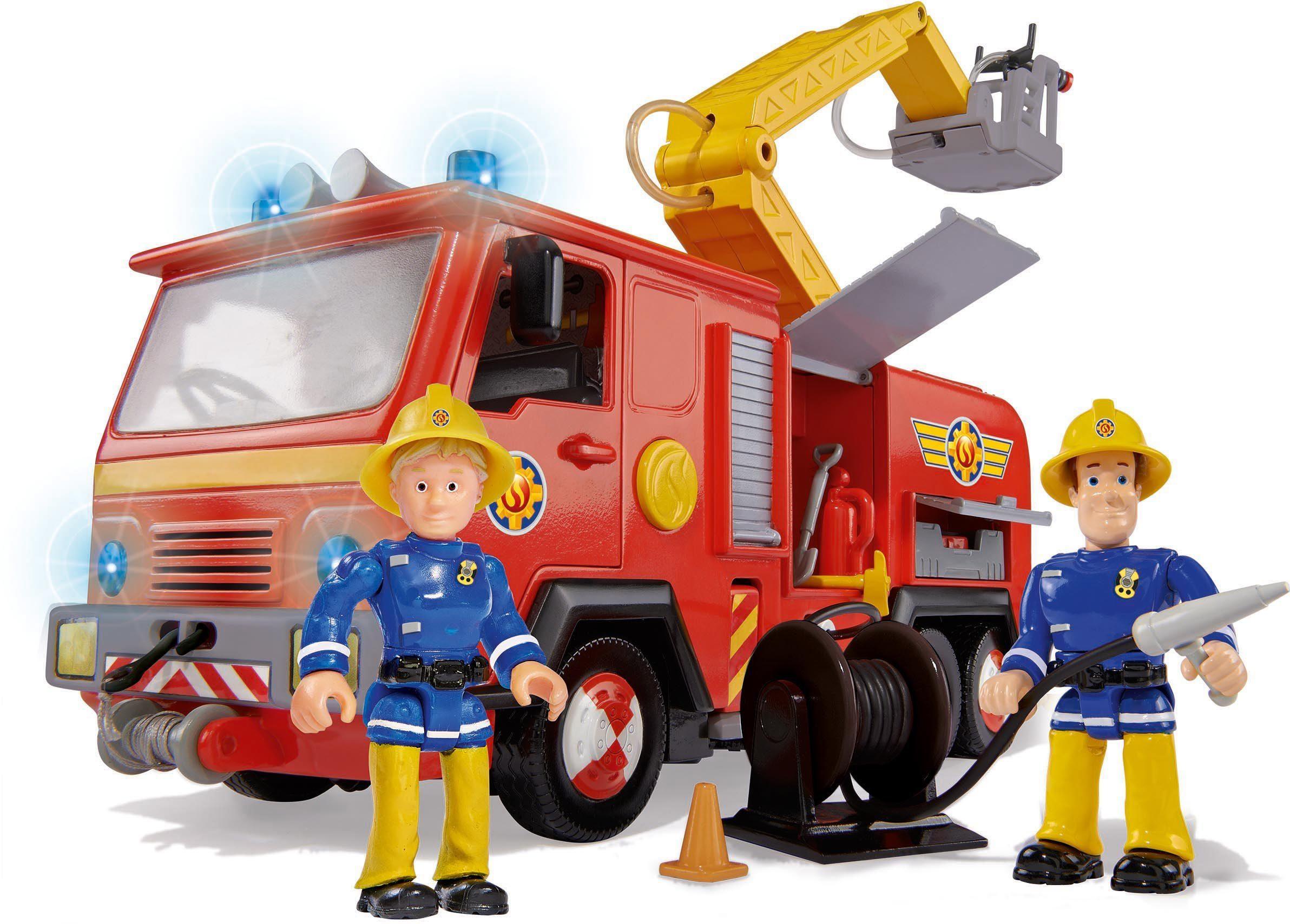 Simba Einsatzfahrzeug mit Funktion und Figuren, »Feuerwehrmann Sam, Jupiter Feuerwehrwagen«