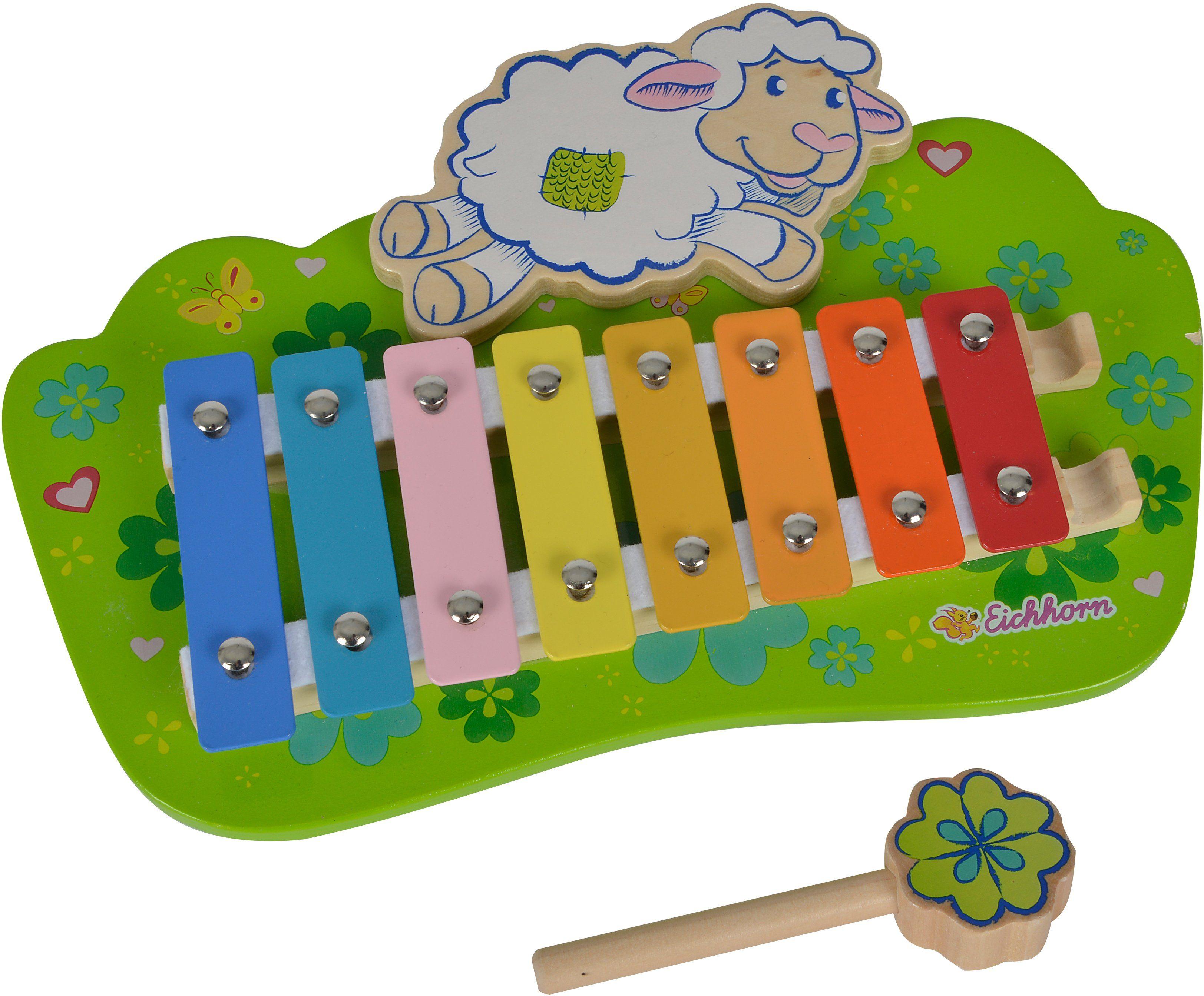 Eichhorn Musikinstrument aus Holz, »Xylophon Schaf«