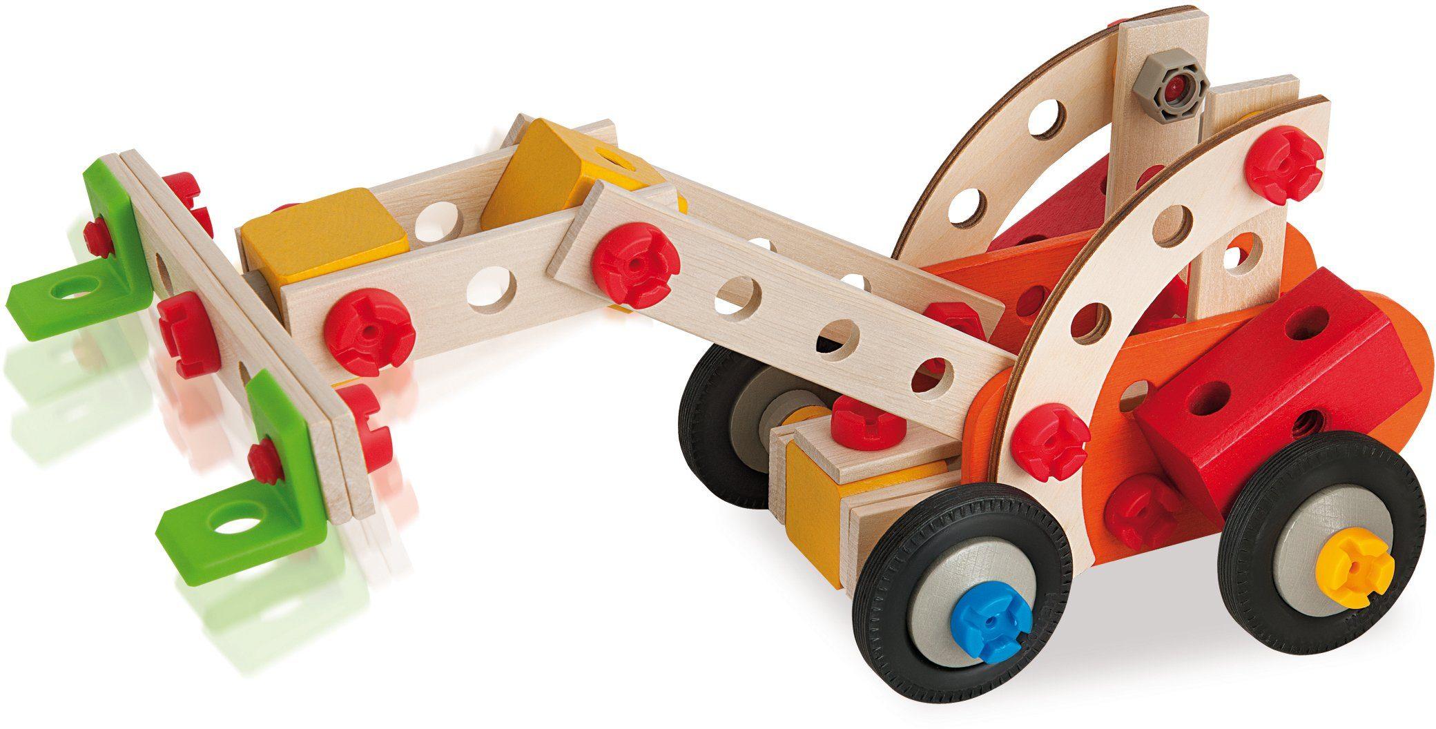 Heros Multifunktionsbausatz aus Holz, »Constructor Stapler, 115tlg.«