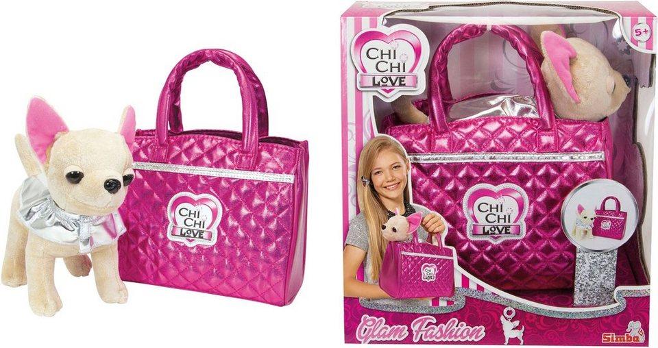 Simba Stofftier mit Tasche ca. 23 cm, »Chi Chi Love, Chihuahua Plüschhund Glam Fashion«