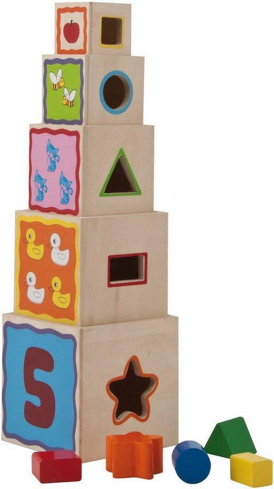 Eichhorn Form und Farblernspiel aus Holz, »Steckturm, 10tlg.«