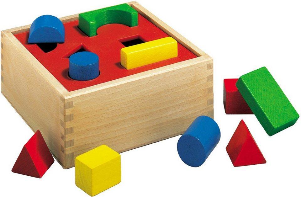 Heros Formenlernspiel aus Holz, »Holzbox Steckspiel, 12tlg.«