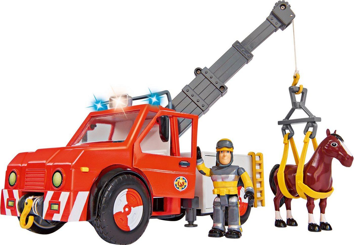 Simba Einsatzfahrzeug mit Blaulicht, »Feuerwehrmann Sam, Phoenix Figur und Pferd« Sale Angebote Bagenz