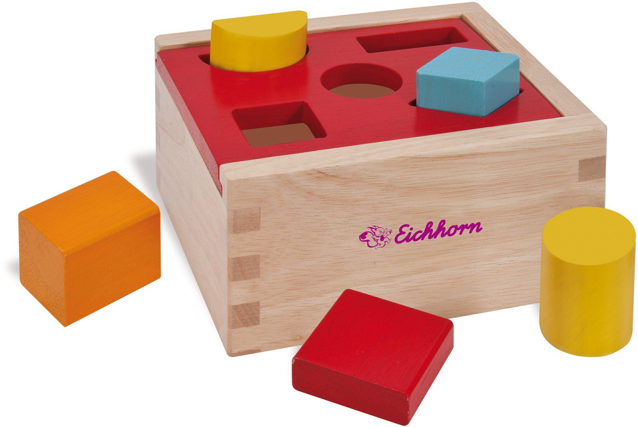 Eichhorn Form und Farblernspiel aus Holz, »Steckbox, 7tlg.«