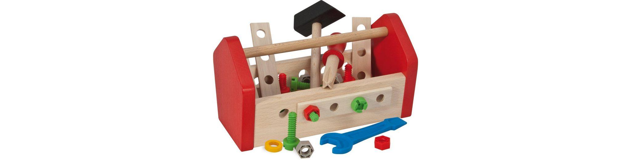 Heros Werkzeugkasten mit Zubehör aus Holz, »Werkzeugbox, 30tlg.«