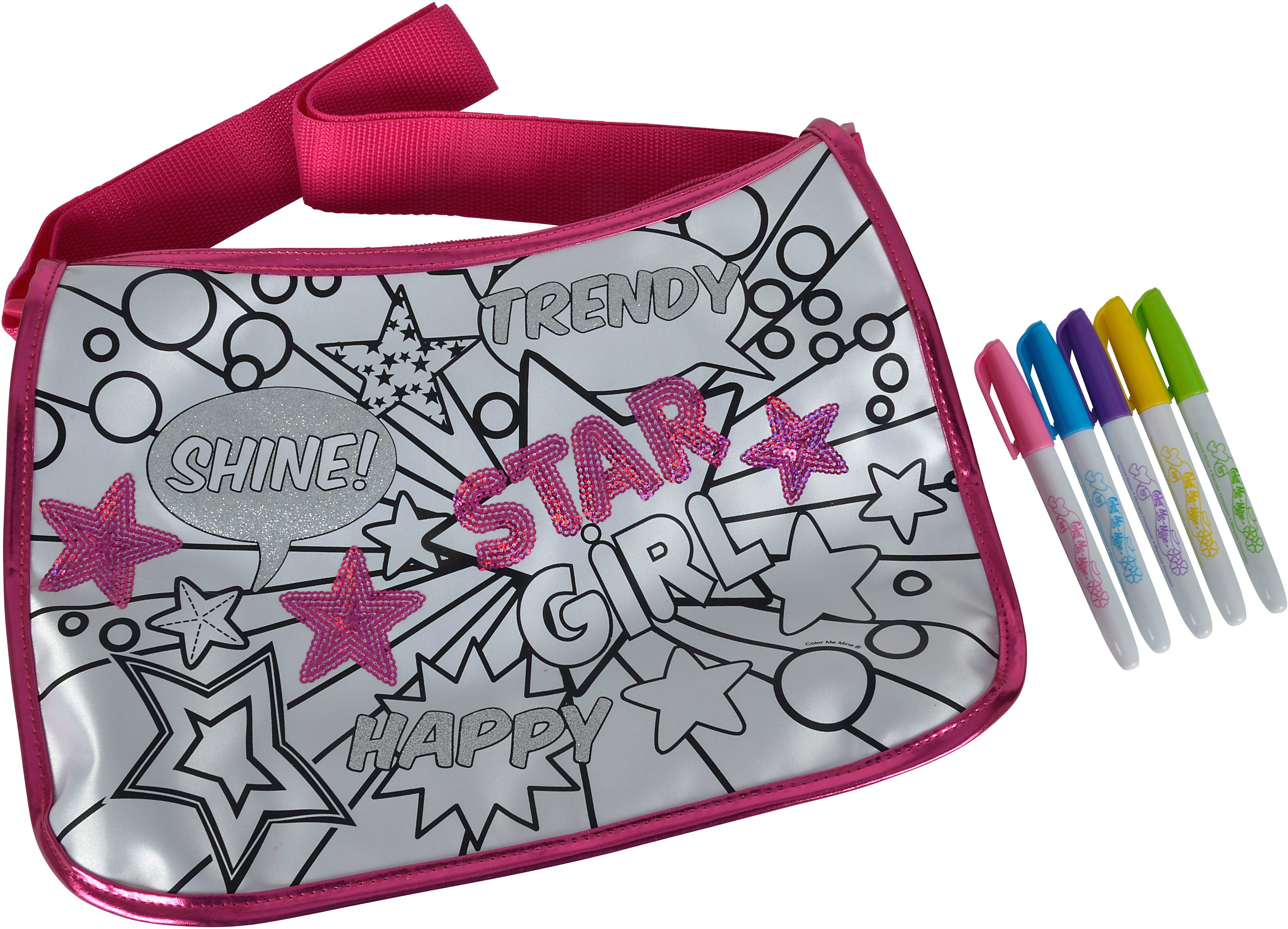 Simba Tasche zum Bemalen, »Color me mine, Sequin Maxi Hipster«