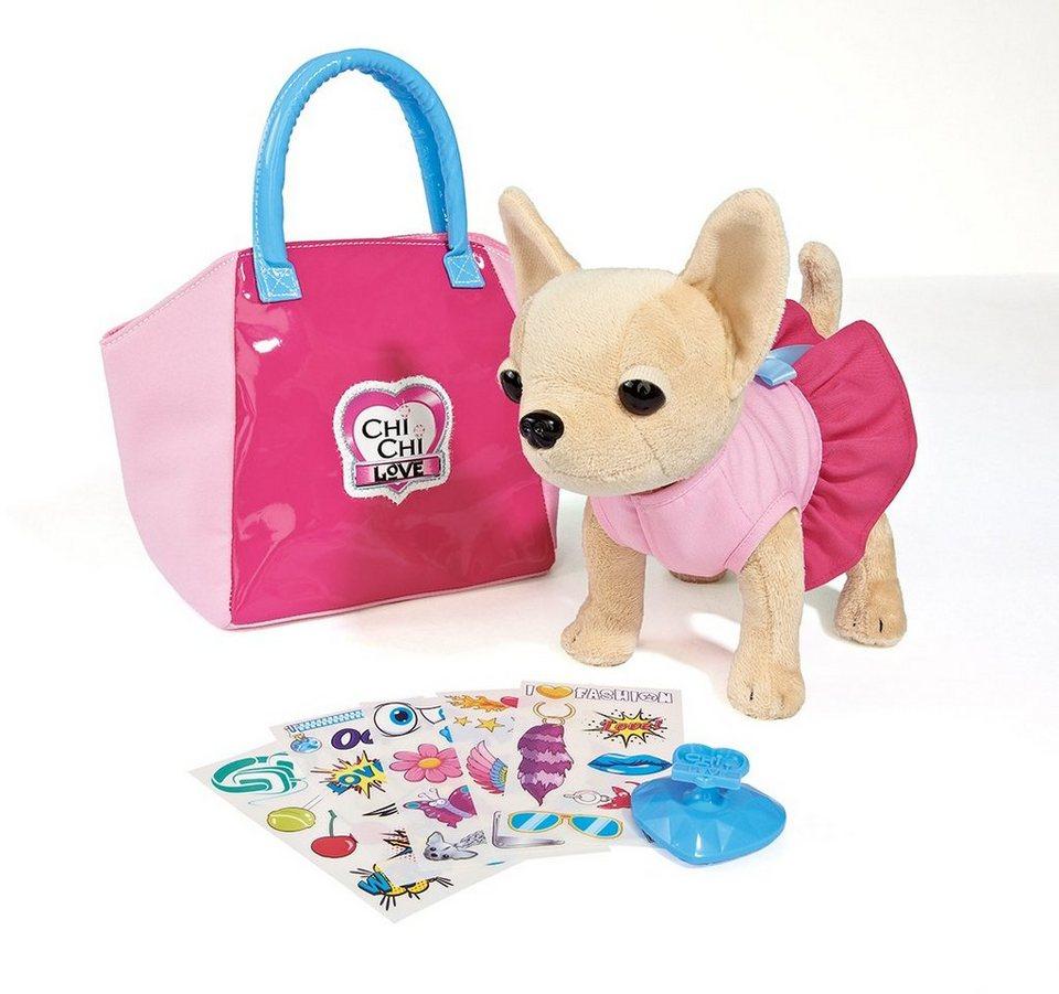 Simba Stofftier mit Tasche ca. 20 cm, »Chi Chi Love, Chihuahua Plüschhund My Design«