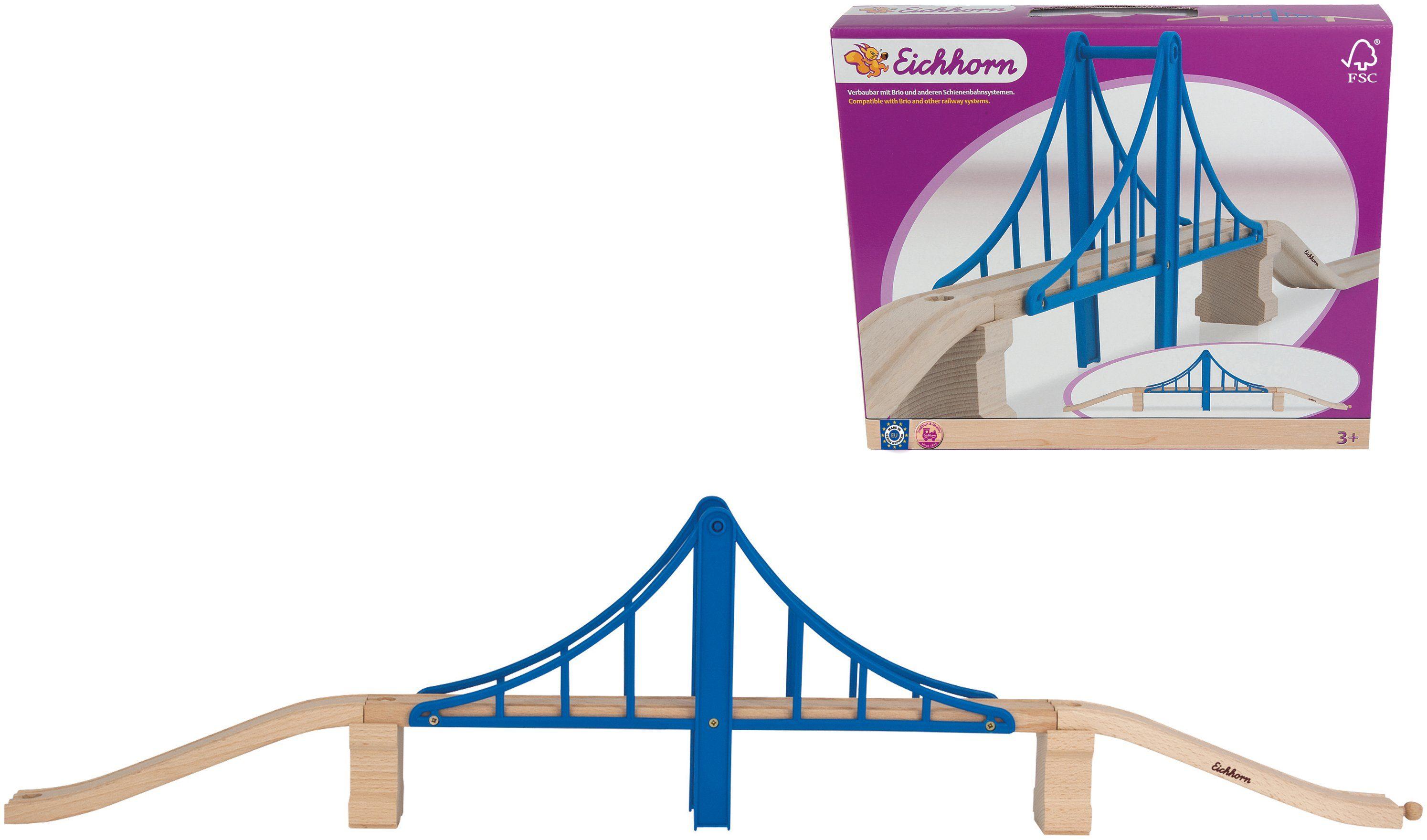 Eichhorn Erweiterung für Holzschienenbahn, »Hängebrücke, 5tlg.«