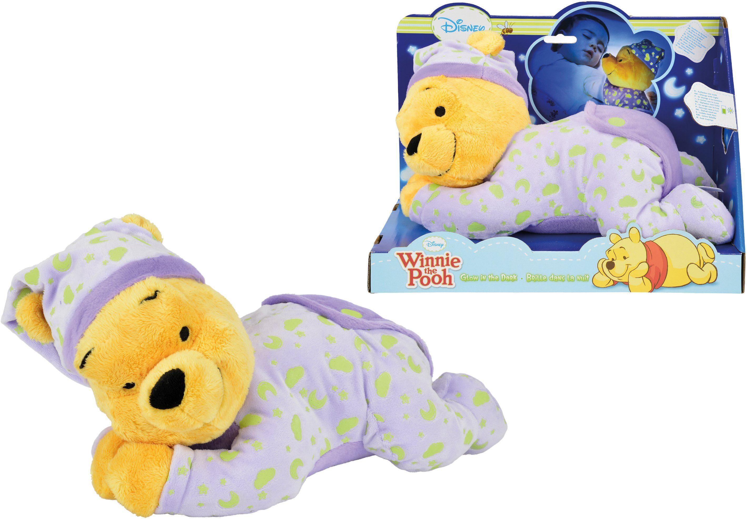 Simba Fluoreszierendes Kuscheltier ca.30 cm, »Disney Winnie The Pooh, Gute Nacht Bär«