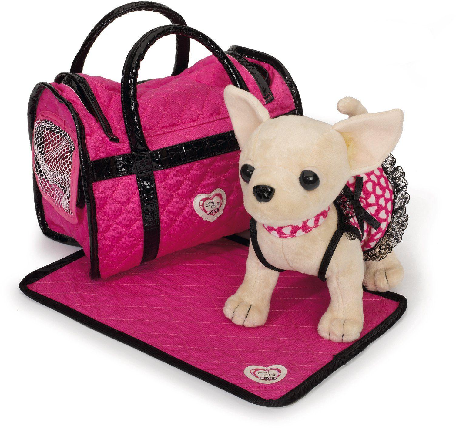 Simba Stofftier mit Tasche ca. 20 cm, »Chi Chi Love, Chihuahua Plüschhund Paris II«