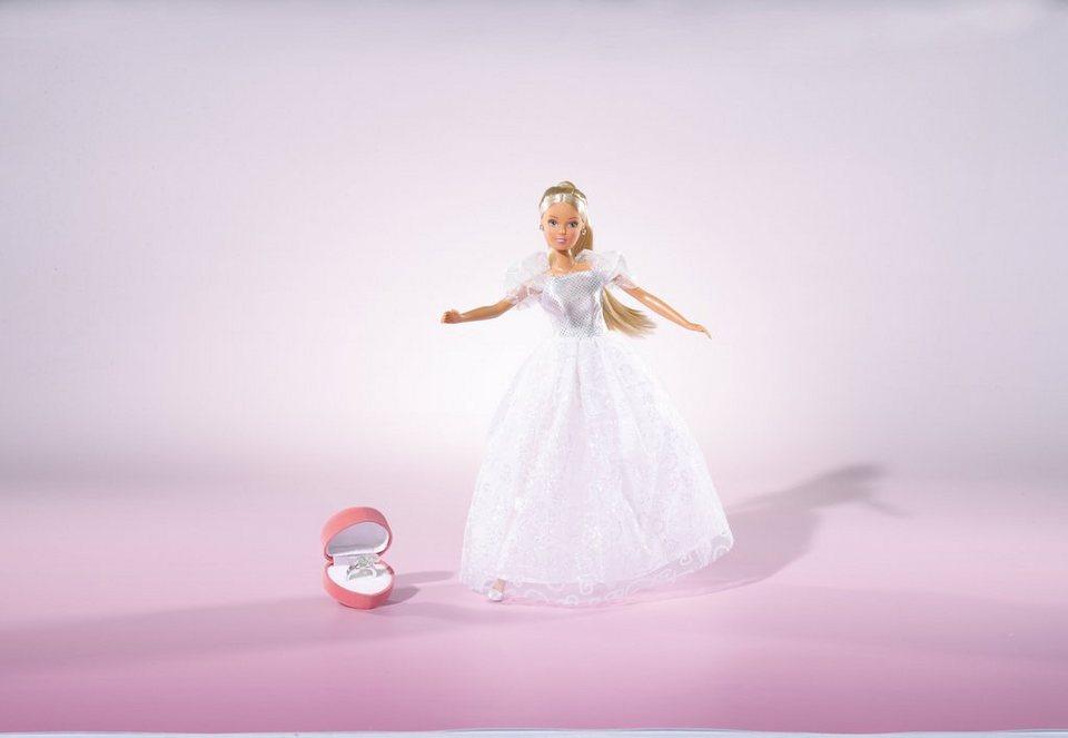 Simba Puppe mit Hochzeitskleid und Zubehör, »Steffi Love, Romantic Super Wedding«