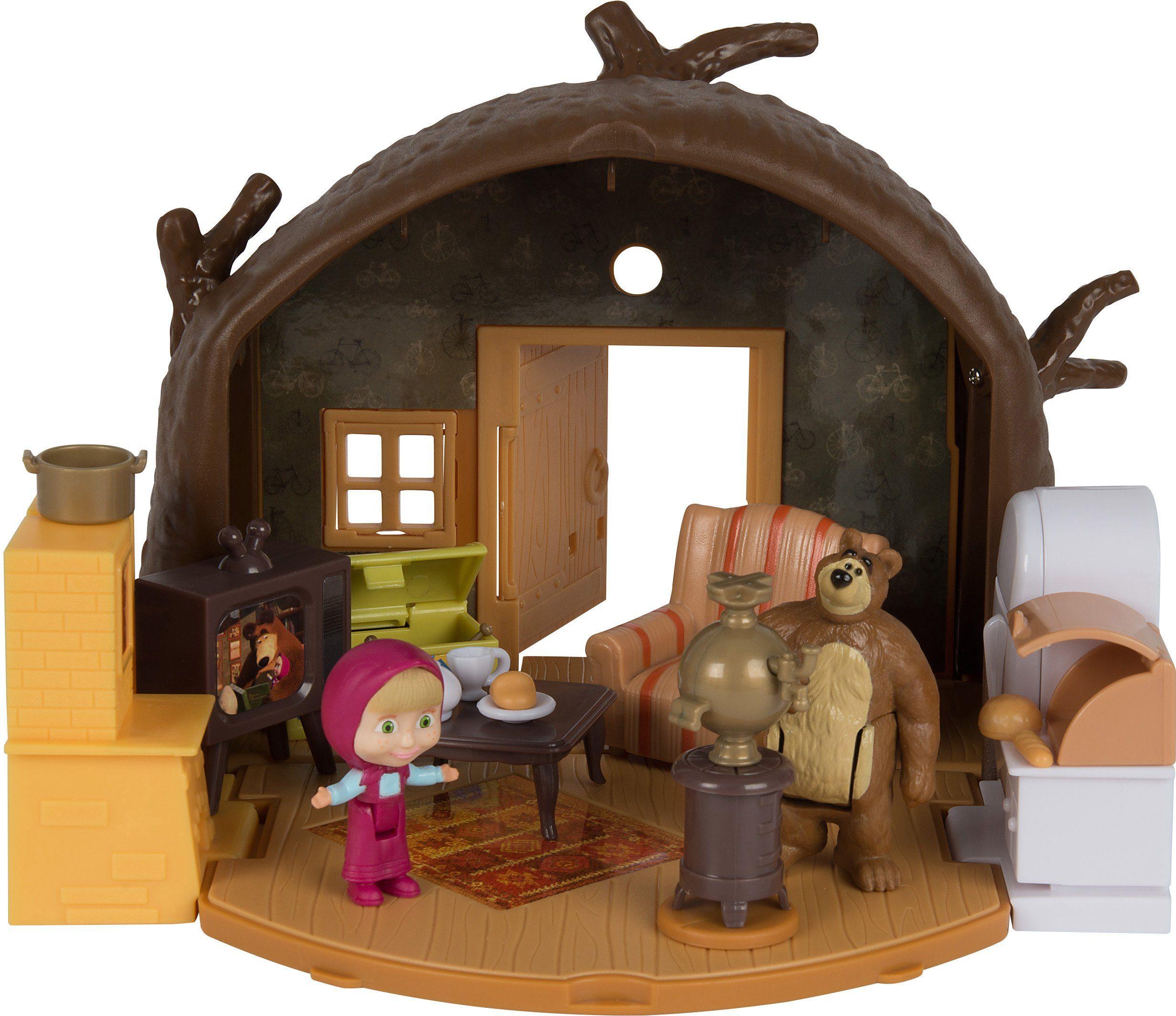 Simba Spielhaus mit Figuren, »Mascha und der Bär, Spielset Bärenhaus«
