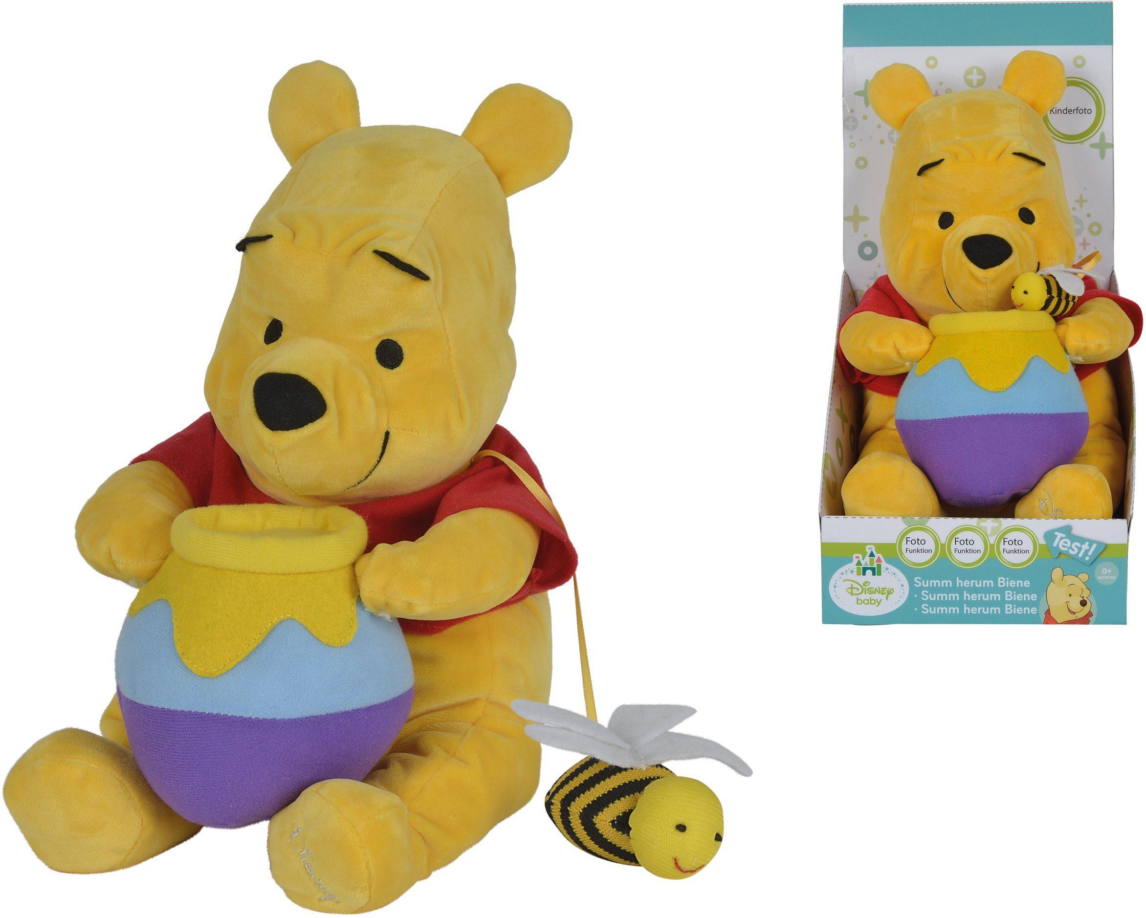 Simba Kuscheltier Bär mit Funktion ca. 27 cm, »Disney Winnie The Pooh, Summ herum Biene«