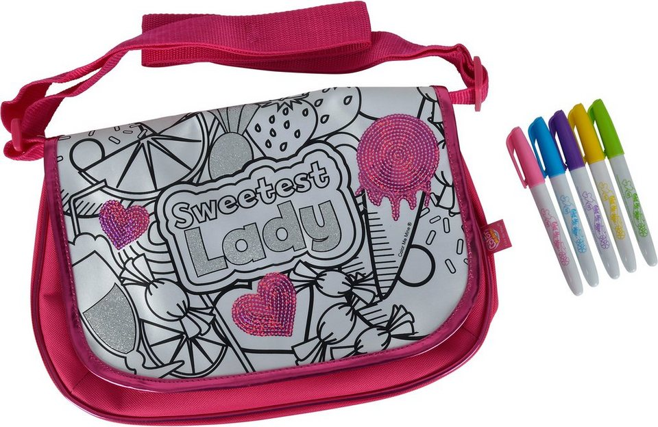 Simba Tasche zum Bemalen, »Color me mine, Sequin New Messenger«