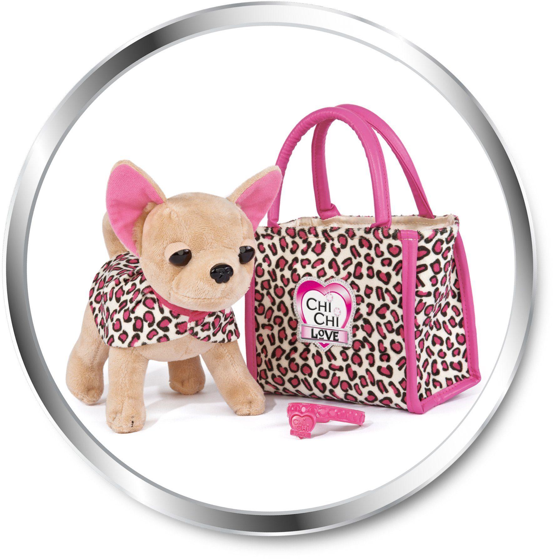 Simba Stofftier mit Tasche ca. 20 cm, »Chi Chi Love, Chihuahua Plüschhund Leo Fashion«