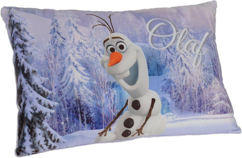 Simba Plüschkissen, »Disney Frozen, Schmusekissen Aufdruck Olaf«