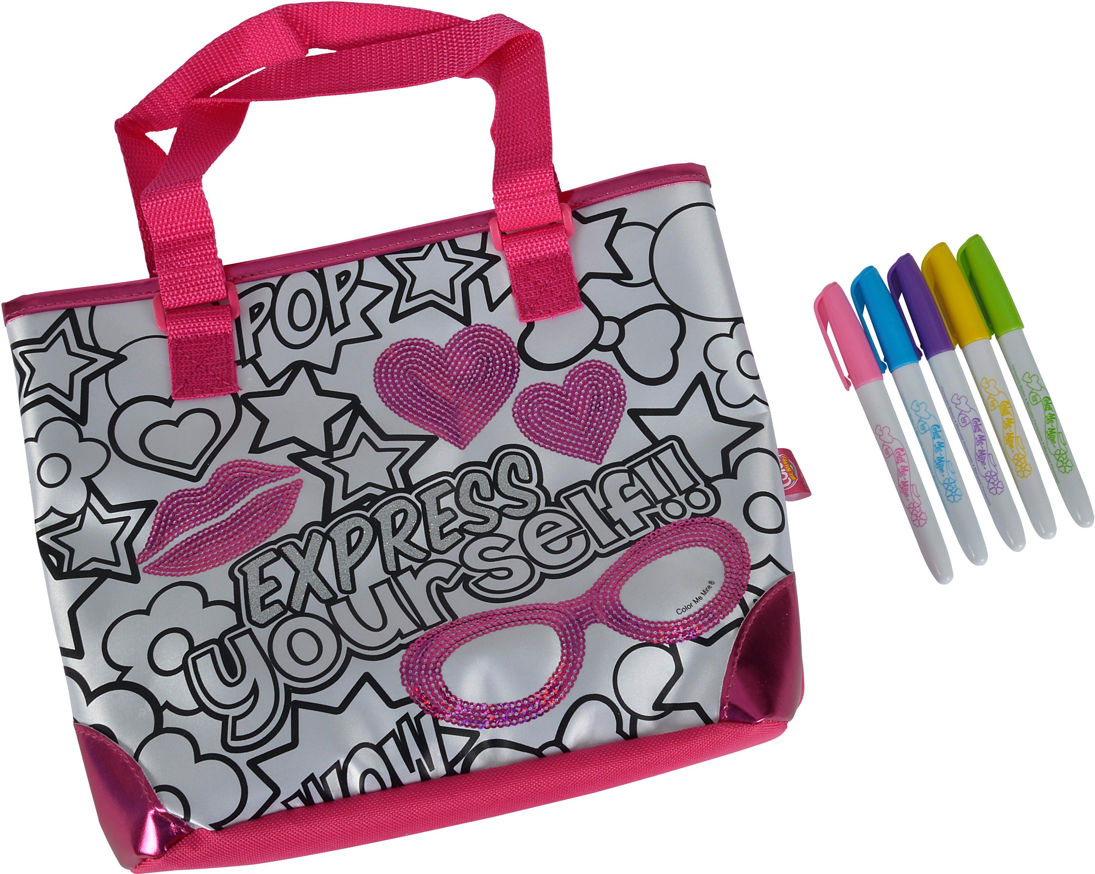 Simba Tasche zum Bemalen, »Color me mine, Sequin Fashion Bag«