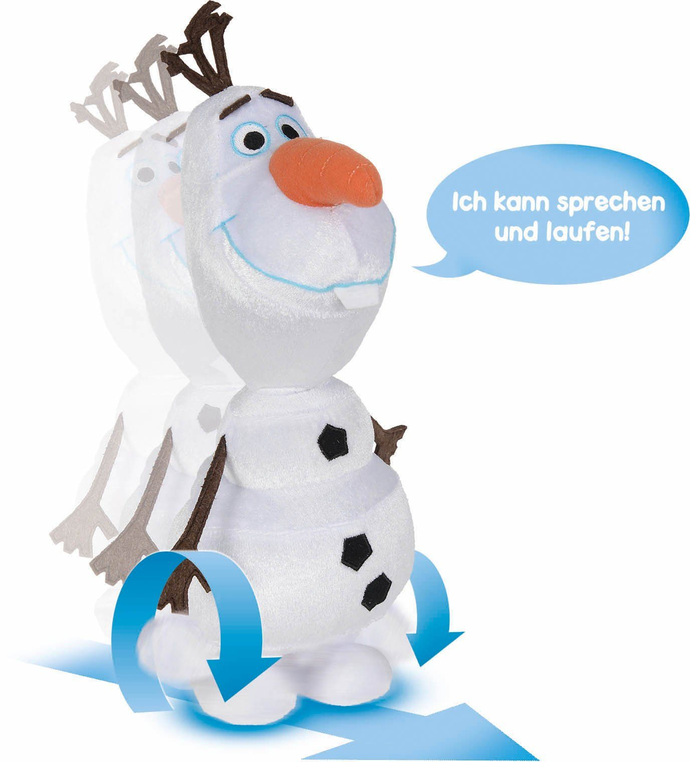 Simba Plüschfigur Schneemann mit Funktion ca. 30 cm, »Disney Frozen, Wackelspaß Olaf«