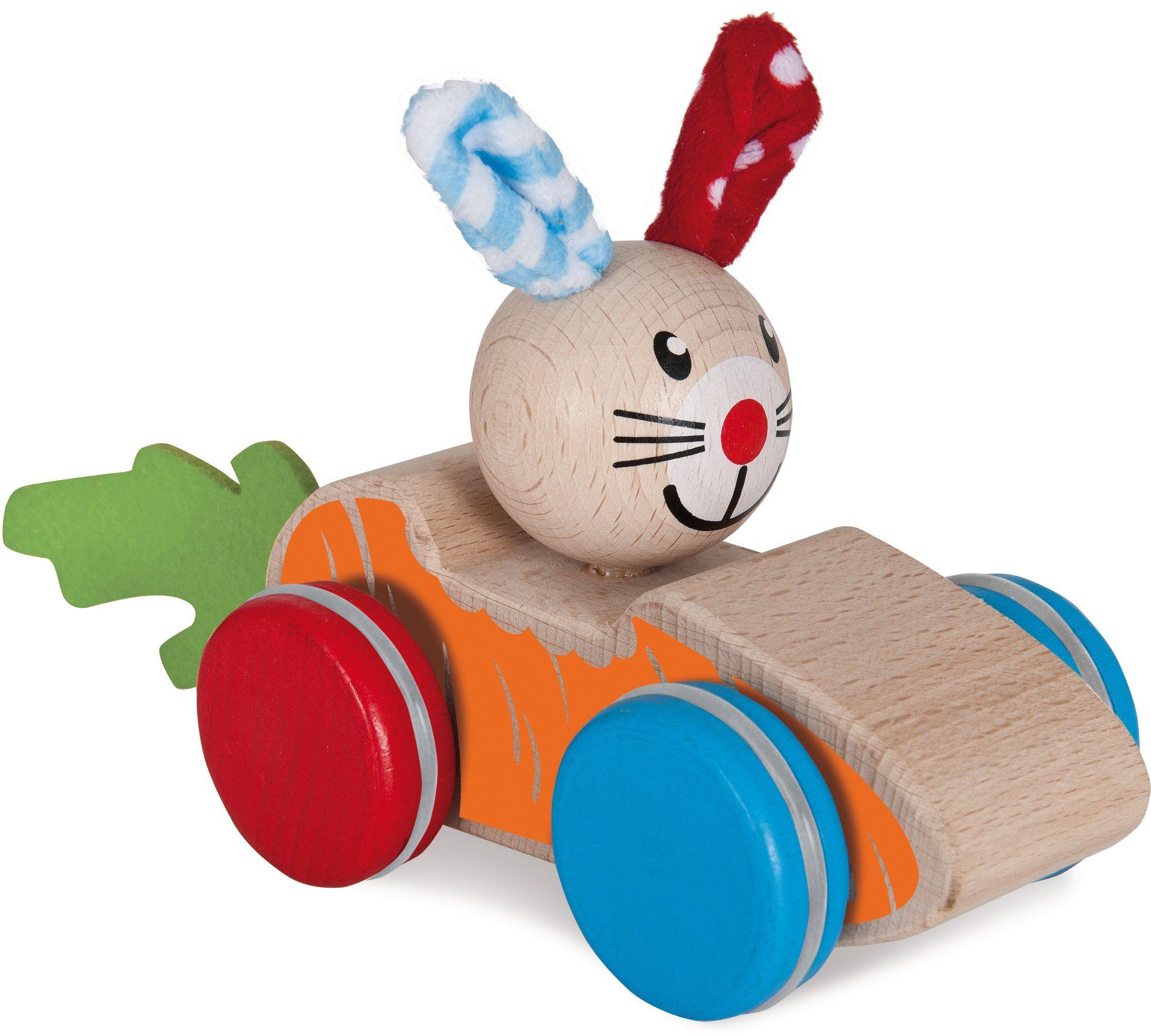 Heros Holzauto mit Hase, »Baby Schiebetier«