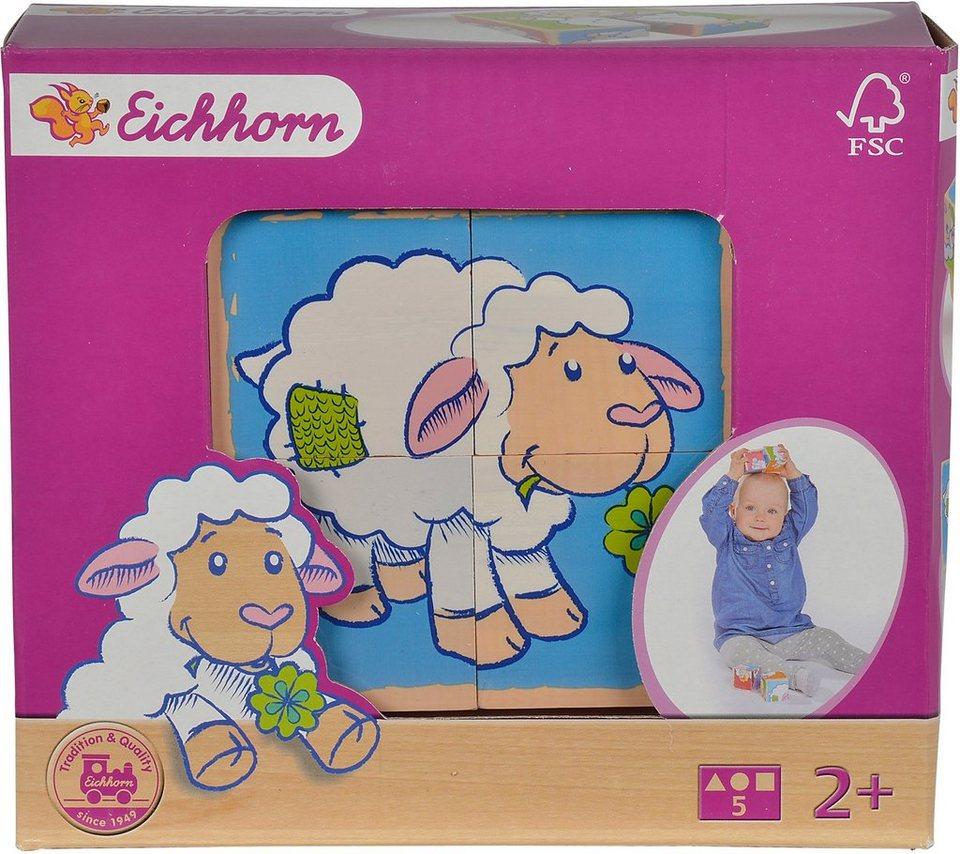 Eichhorn 3D Puzzle aus Holz, »Bilderwürfel Schaf«