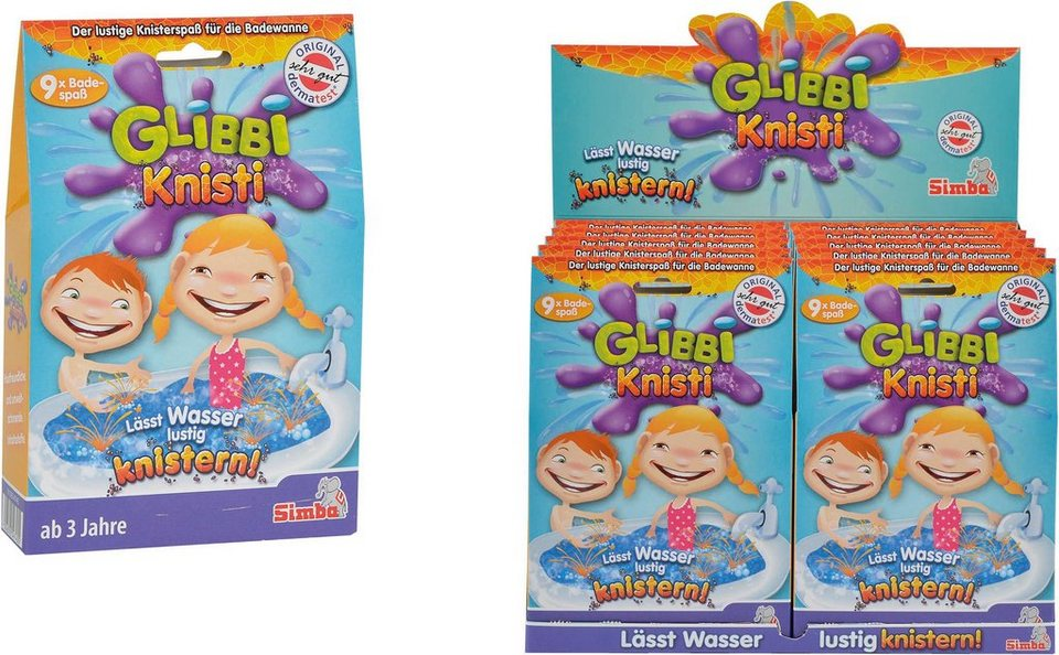 Simba Kinder Badezusatz, »Badespaß Glibbi Knisti 9er Pack«