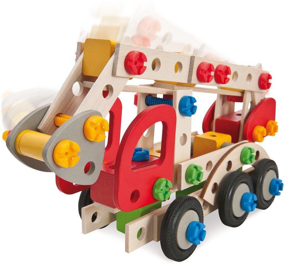Heros Bausatz Einsatzfahrzeuge 3in1 aus Holz, »Constructor Feuerwehr, 155 tlg.«