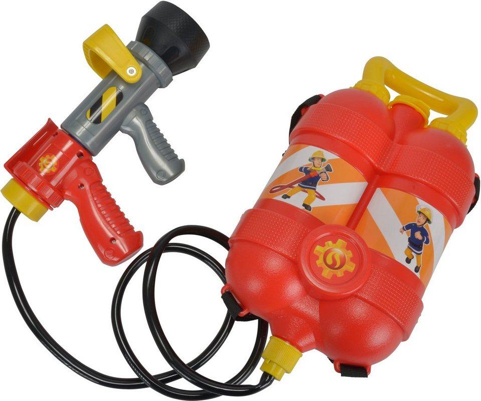 Simba Löschzubehör, »Feuerwehrmann Sam, Feuerwehr Tankrucksack«