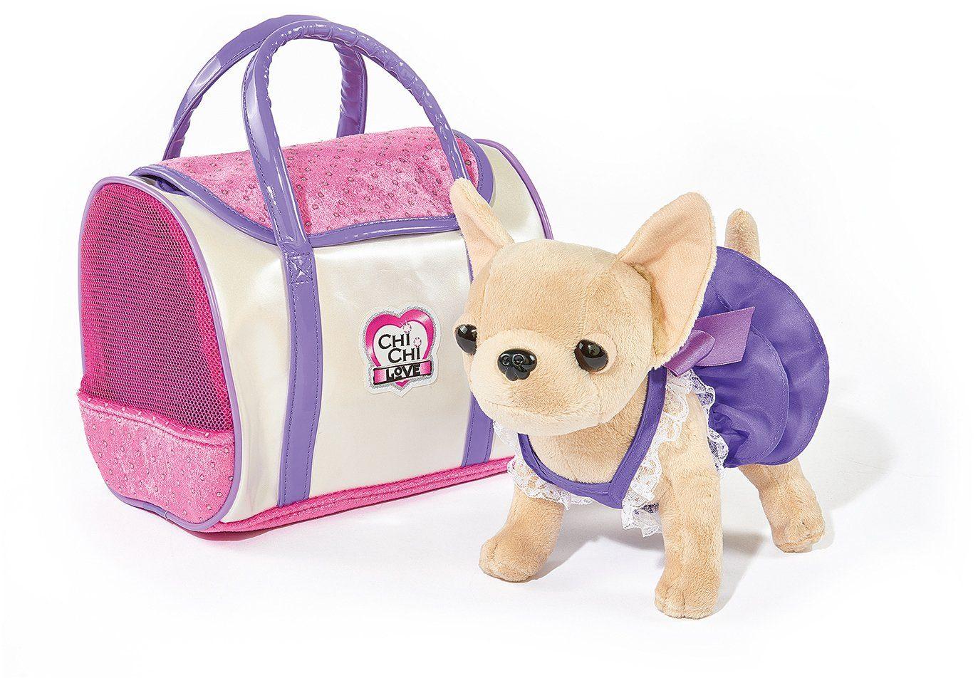 Simba Stofftier mit Tasche ca. 20 cm, »Chi Chi Love, Chihuahua Plüschhund Style«