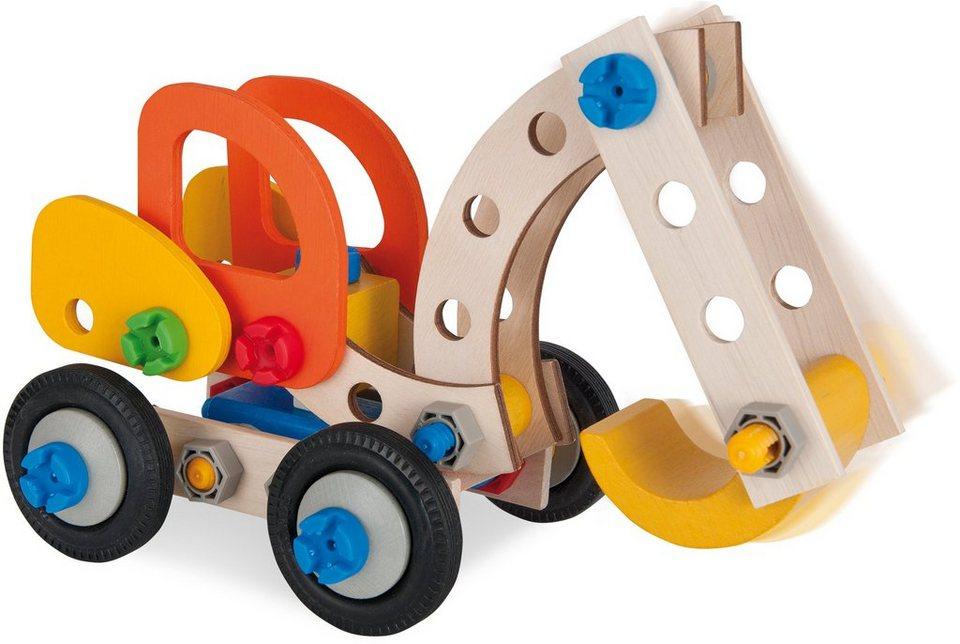Heros Bausatz Fahrzeuge 3in1 aus Holz, »Constructor Bagger, 90 tlg.«