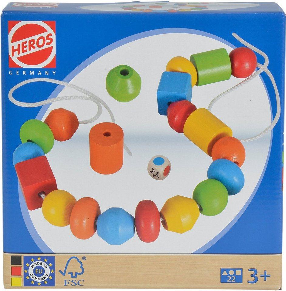 Heros Farbenwürfelspiel aus Holz, »Fädelspiel, 22tlg.«