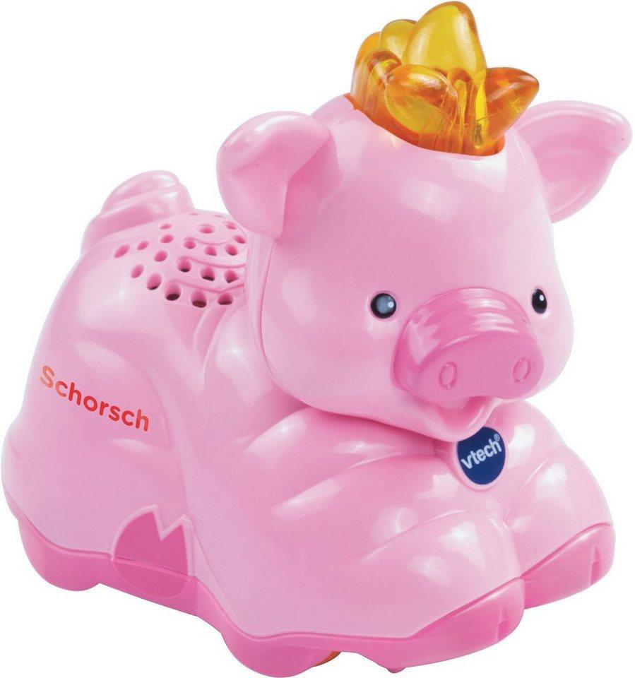 VTech Spielfigur mit Licht und Sound, »Tip Tap Baby Tiere Schwein« in Pink