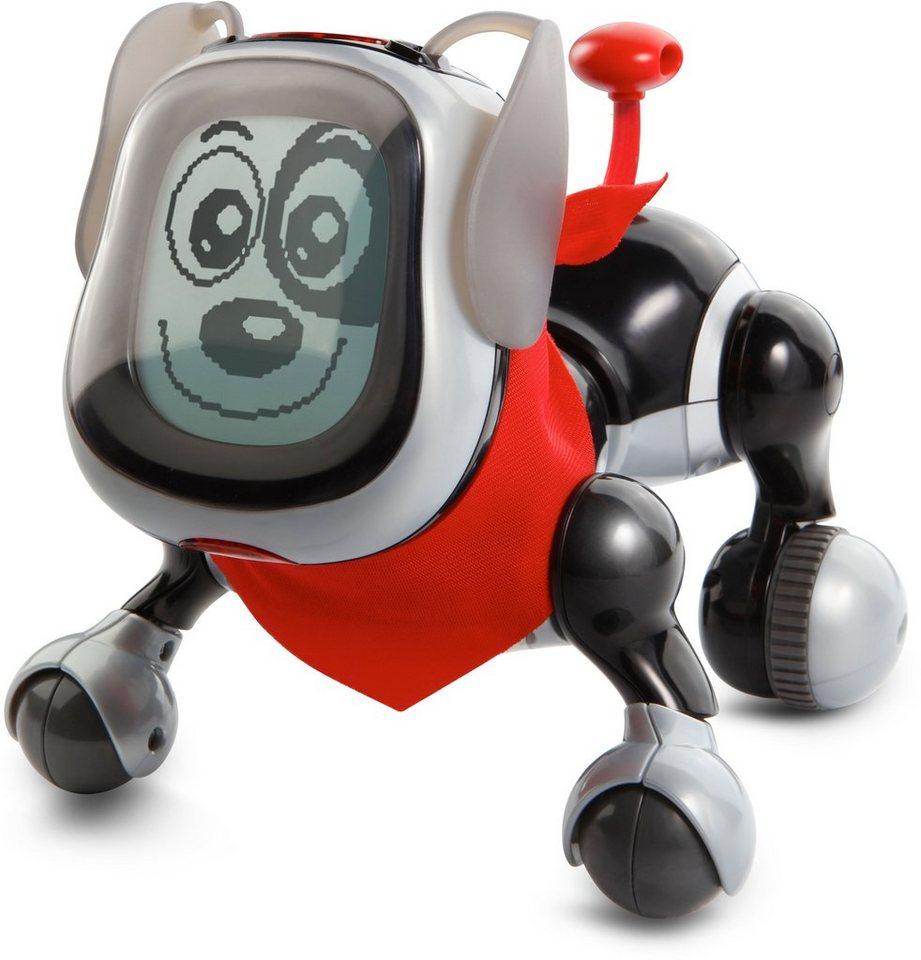VTech Elektronischer Hund, »KidiDoggy Roboterhund schwarz/silber« in schwarz/silber