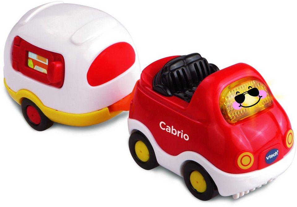 VTech Spielfahrzeug mit Licht und Sound, »Tut Tut Baby Flitzer Cabrio & Wohnwagen« in Rot