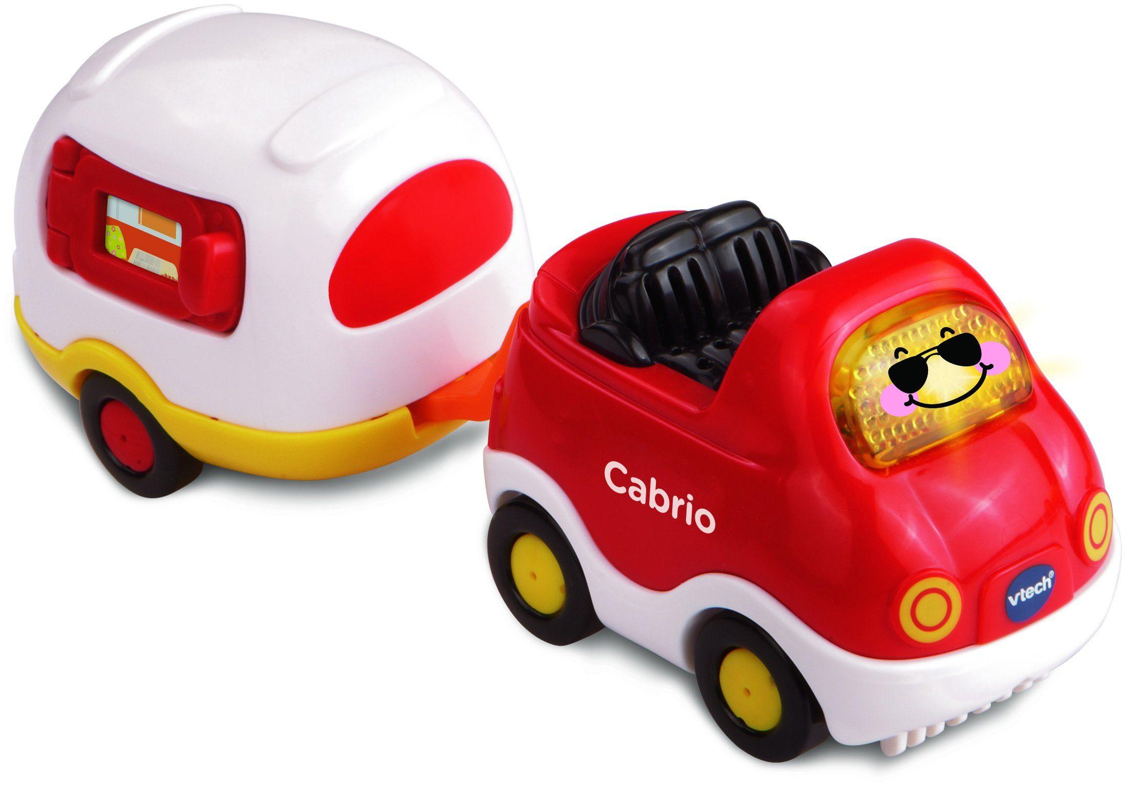 VTech Spielfahrzeug mit Licht und Sound, »Tut Tut Baby Flitzer Cabrio & Wohnwagen«